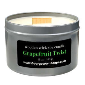 grapefruit twist wooden wick soy candle