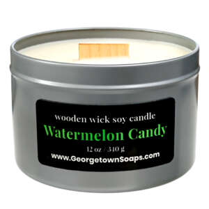 watermelon candy wooden wick soy candle