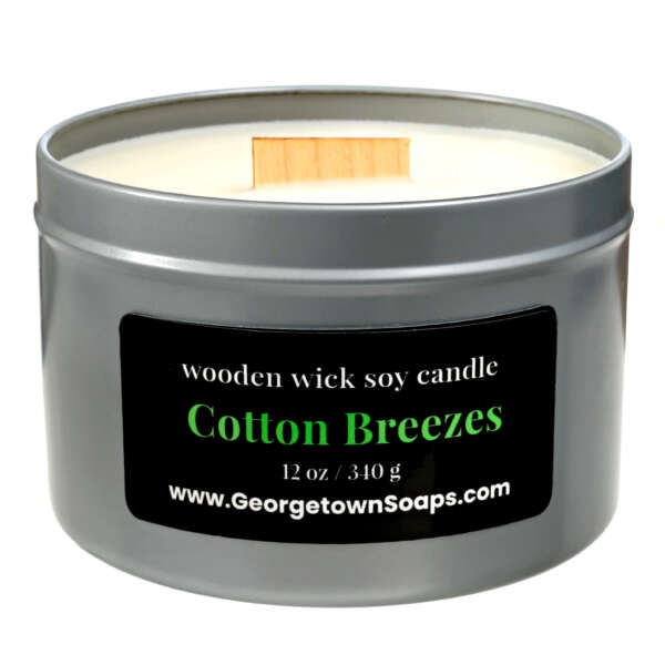 cotton breezes wooden wick soy candle