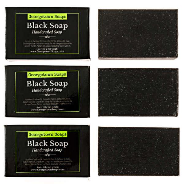 natural soap for women - black