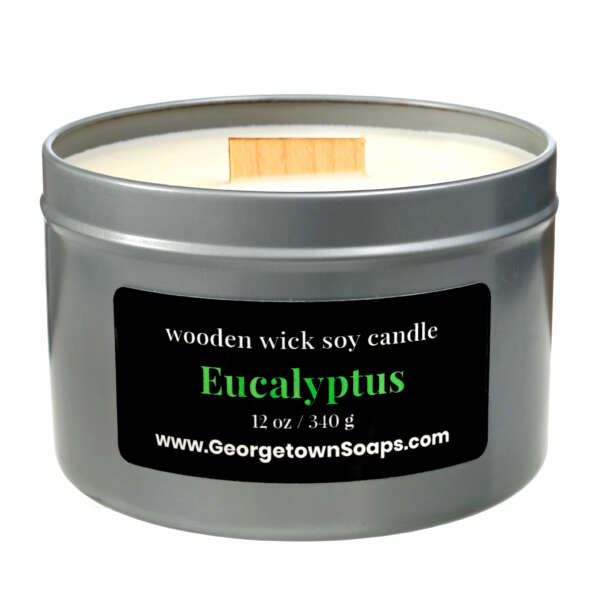 eucalyptus wooden wick soy candle