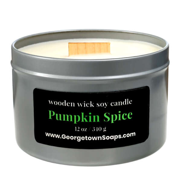 pumpkin spice wooden wick soy candle