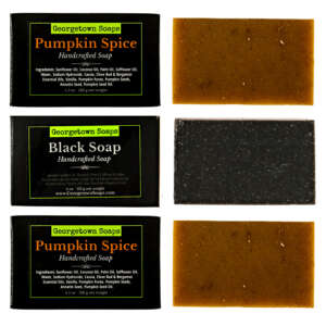 pumpkin spice essential oil soap gift set