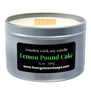 LEMON POUND CAKE WOODEN WICK SOY CANDLE